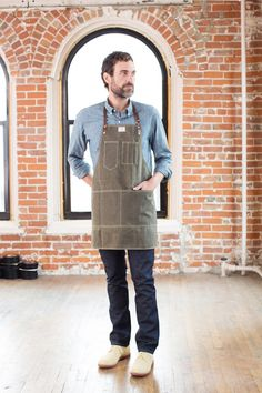 No. 325 Artisan Apron in Olive Waxed Canvas & by ArtifactBags, $145.00- for all the ever so talented makers in my life.  This fits like an actual garment, looks like an heirloom, and was designed thoughtfully by a maker for a maker.  Did I mention it wears like a tank?  Because there is no scuffing or staining this sucker.  Yurp- practically bulletproof.