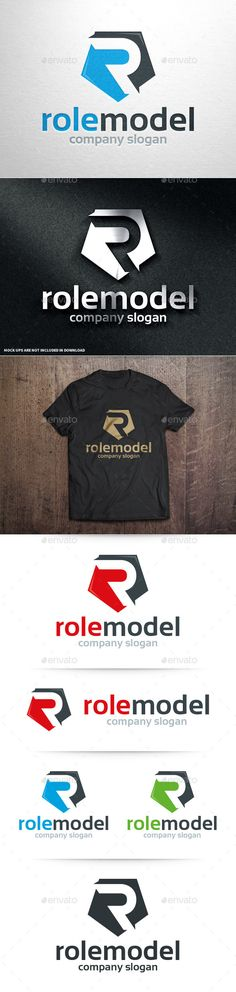 Role Model - Letter R Logo (AI Illustrator, Resizable, CS, black, blue, business, company, design, fast, green, hexagon, letter, Letter Logo, letter R, logo, modern, name, polygon, professional, r, r letter, race, rapid, red, relate, reliable, rocket, rough, ruff, simple, vector)