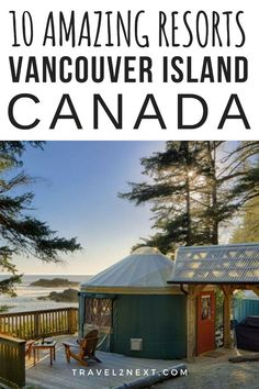 10 Vancouver Island resorts in British Columbia, Canada. From spa resorts to wilderness camps, our top Vancouver Island accommodation picks. Vancouver Island, Cool Places To Visit, Places To Go, West Coast Canada, Columbia Outdoor, Treehouse Hotel, Honeymoon Spots, Canadian Travel, San Juan Islands