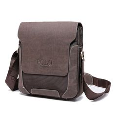 b1d85c0bb359 Promotion price High Quality VIDENG POLO Vintage Casual Patchwork Durable Oxford  Man Bag With Leather Cover