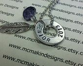 2013 Senior gift custom necklace - high school college etc. - hand stamped