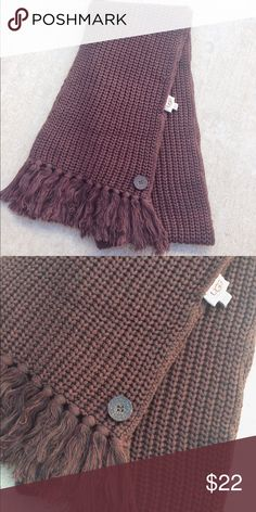 New Ugg cotton winter scarf wrap accessories Very soft scarf.  40%cotton 35%viscose 15%nylon 10%silk.   Ugg button details.  Fringe ends.  Brand new no tags. I have 2 exact same scarfs available. UGG Accessories Scarves & Wraps