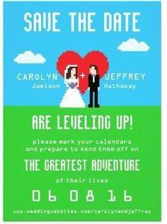 Gamers Wedding invitation