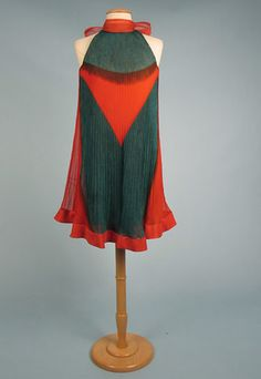 Pleated silk dress, Pierre Cardin for Mia Farrow, 1967