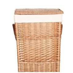 Buff Willow Wicker Square Laundry And Storage Baskets, With Removable  Natural Linings And Faux Leather Hinges And Handles. The Small Square  Storage Baskets ...