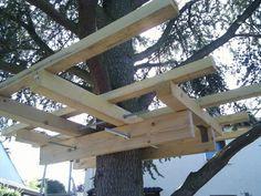 Les différents modes de support d'une cabane perchée - ▷ CABANES, ABRIS DE JARDIN et EXTENSIONS à construire soi-même