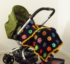 "Colorful Baby Blanket Crochet Baby Blanket 35""x43"""