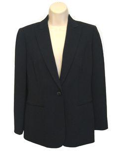 LIZ CLAIBORNE Dark Blue Career Blazer Jacket Coat Women's 4 P Petite New w Tags #LizClaiborne #Blazer