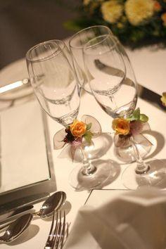 おまかせで  西麻布、OHARA ET CIE 様への装花 : 一会 ウエディングの花