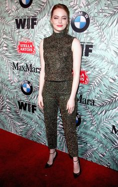 Emma Stone Photos Photos - Actor Emma Stone attends the tenth annual Women in Film Pre-Oscar Cocktail Party presented by Max Mara and BMW at Nightingale Plaza on February 24, 2017 in Los Angeles, California. - Tenth Annual Women In Film Pre-Oscar Cocktail Party Presented By Max Mara And BMW - Red Carpet