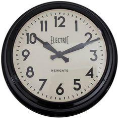 Newgate Clocks Black Giant Electric Wall Clock