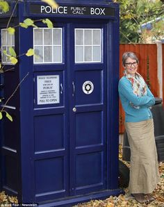 something for the back yard is mother uses tardis as garden shed