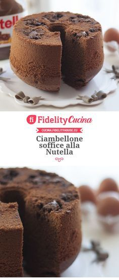 Here you can find a collection of Italian food to date to eat Nutella Recipes, Chocolate Recipes, Cake Cookies, Cupcake Cakes, Sweet Recipes, Cake Recipes, Chiffon Cake, Something Sweet, Cakes And More
