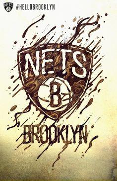 #illustration #liquid #brown #badge #sport #nets #brooklyn  Unique Illustrations by Raul Urias