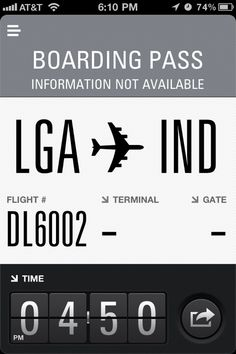 Boarding pass (mobile ui patterns)