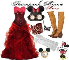 """""""Steampunk Minnie Mouse"""" by princesschandler ❤ liked on Polyvore"""
