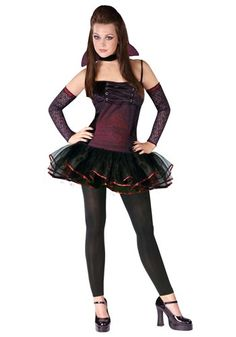 Teen Vamparina Vampire Halloween Costume