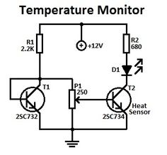 temperature monitor circuit diagram
