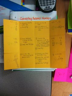 Live. Teach. Create. | #made4math- Converting Fractions, Decimals and Percents Foldable