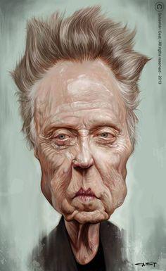 Caricatura del excelente actor Neoyorkino Christopher Walken, realizada por el artista Sebastián Cast.     Christopher Walken por Sebastián...