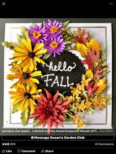 Flower Cards, Paper Flowers, Craft Flowers, Paper Art, Paper Crafts, Elizabeth Craft Designs, Paper Flower Tutorial, Garden Club, Thanksgiving Cards
