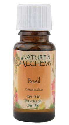 Nature's Alchemy 100% Pure Essential Oil Basil -- 0.5 fl oz
