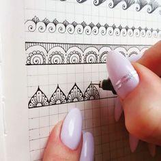 Doodle art ideas draw zentangle patterns 24 Ideas for 2019 Henna Tattoo Muster, Henna Tattoo Hand, Muster Tattoos, Henna Tattoos, Mandalas Tattoos, Henna Tattoo Designs, Mehndi Designs, Mandala Doodle, Mandala Art Lesson