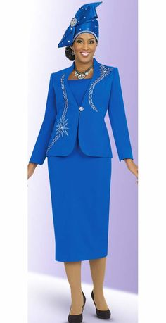 Fifth Sunday Jewel Embellished Skirt Suit With Embroidery Church Dresses For Women, Women Church Suits, Suits For Women, Dresses For Work, Clothes For Women, Work Outfits, Skirt Suit, Jacket Dress, Tweed Skirt