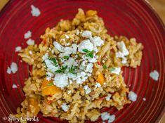 Rýže s kuřetem – ze zbytků z pekáče - Spicy Crumbs Risotto Recipes, Fried Rice, Fries, Spicy, Ethnic Recipes, Food, Eten, Meals, Stir Fry Rice