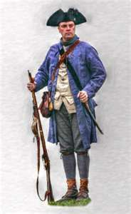 Colonial Militia Soldier during the Revolutionary War - Artist Unknown