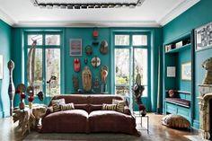 Stefano Pilati Paris flat : living room