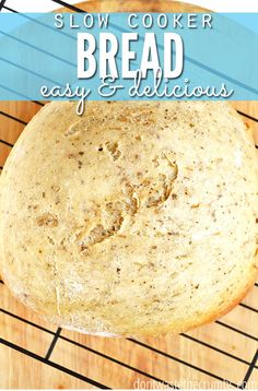 This kitchen hack saved me when our oven broke - how to bake homemade bread in a slow-cooker! It came out so good, and it was so simple! Love that it can be modified for any bread, yeast or quick-bread, and that it doesn't heat up the house! Small Slow Cooker, Slow Cooker Bread, Crock Pot Slow Cooker, Slow Cooker Recipes, Crockpot Recipes, Bread Recipes, Real Food Recipes, Cooking Recipes, Cooking Hacks