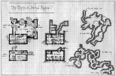Request) Map of a small keep with dungeons