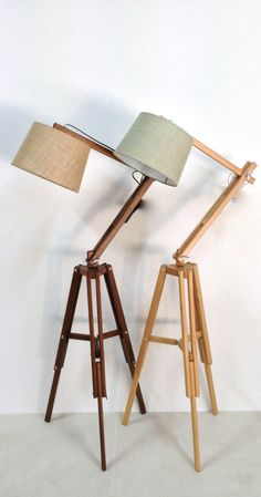 The study timber floor lamp tripod classic. by Loughlinfurniture, $380.00