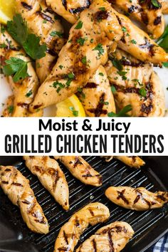 Grilled chicken tenders that are moist and juicy every time! The secret is a fast, flavorful marinade. Ready in minutes and perfect for healthy dinners and meal prep. #healthy #grill #chicken #wellplated via @wellplated Grilled Chicken Strips, Perfect Grilled Chicken, Easy Chicken Marinade, Grilled Chicken Tenders, Chicken Tender Recipes, Grilled Chicken Recipes, Grilled Food, Healthy Grilling Recipes, Grill Recipes
