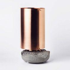 // copper & concrete // perfect combination