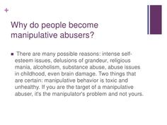 Controlling and manipulative behavior
