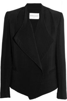 Vionnet Textured silk-crepe jacket | THE OUTNET