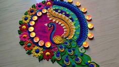 Rangoli Designs Simple Diwali, Rangoli Designs Peacock, Simple Rangoli Border Designs, Rangoli Simple, Indian Rangoli Designs, Rangoli Designs Latest, Free Hand Rangoli Design, Colorful Rangoli Designs, Rangoli Ideas