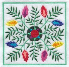Machine Embroidery Designs at Embroidery Library! Hungarian Embroidery, Folk Embroidery, Machine Embroidery Designs, Embroidery Patterns, Textile Patterns, Quilt Patterns, Polish Folk Art, Quilting Designs, Quilt Design