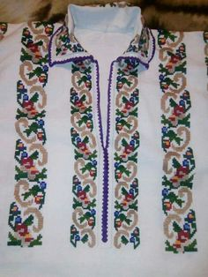 Old Sweater, Short Sleeve Dresses, Dresses With Sleeves, Floral Tie, Types Of Shirts, Graphic Tees, Cross Stitch, Costumes, Hand Embroidery
