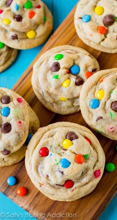 The most popular recipe on my blog: the chewiest, softest, thickest, and most delicious chocolate chip cookies with M&Ms!