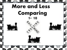 "More than or Less than Comparing Trains provides counting and comparing numbers practice. Simple enough for Pre-K students while challenging enough for students in grades 1 & 2..  No prep- just print and go. Great for math centers. Great with my ""Things that Go Literacy Take Home Bag"" available at: http://www.teacherspayteachers.com/Product/Things-that-Go-Take-home-literacy-bag-1470062"
