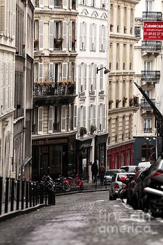 Street Architecture in Montmartre,Paris..My favorite neighborhood