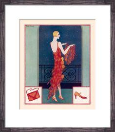 A Tatler Fashion Art Print by Gordon Conway at King & McGaw