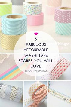 5 FABULOUS AFFORDABLE WASHI TAPE STORES YOU WILL LOVE - Where to buy washi tape that is good value for money and doesn't rip you off with shipping costs. All types of Washi Tape available through the stores.