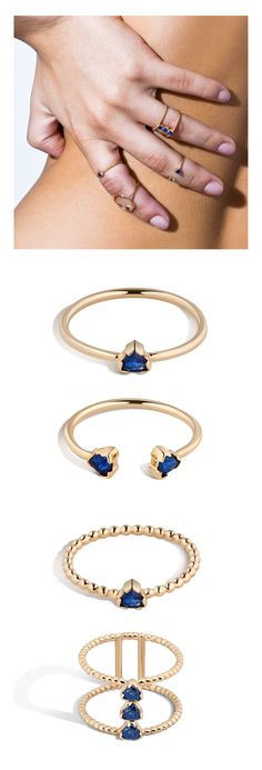 Customizable Shahla Karimi Fine Birthstone stackable rings starting at $245.