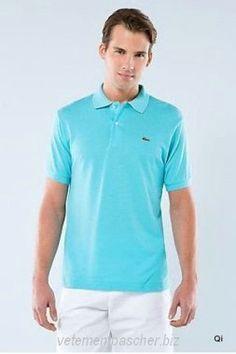 SV778KE Polo Lacoste Homme Manche Courte T-Shirt Turquoise Vente