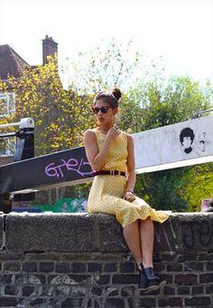 Mellow Yellow Polka Dot Dress  £42