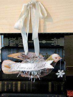 peace dove tinsel ornament